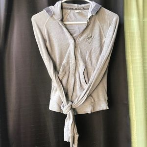 Parasuco gray zipper hoodie